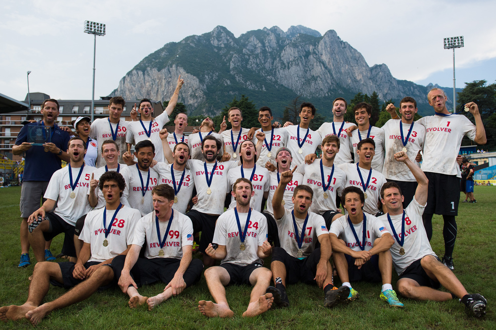 Revolver Team Photo (Open Gold Medalists) - WUCC Saturday Awards Ceremony
